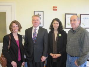 From left to right: Kristen Rezabek, Senator Karen Fraser, Karen Kinney